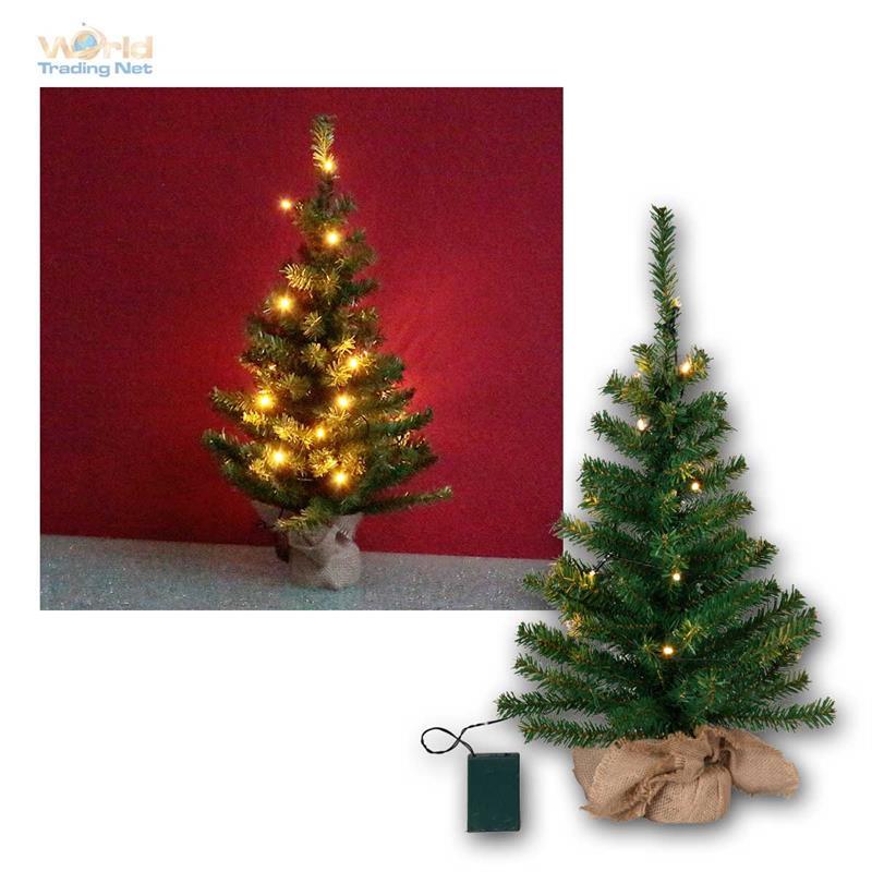 Albero-Di-Natale-Toppy-con-illuminazione-LED-amp-timer-Abete-BATTERIA
