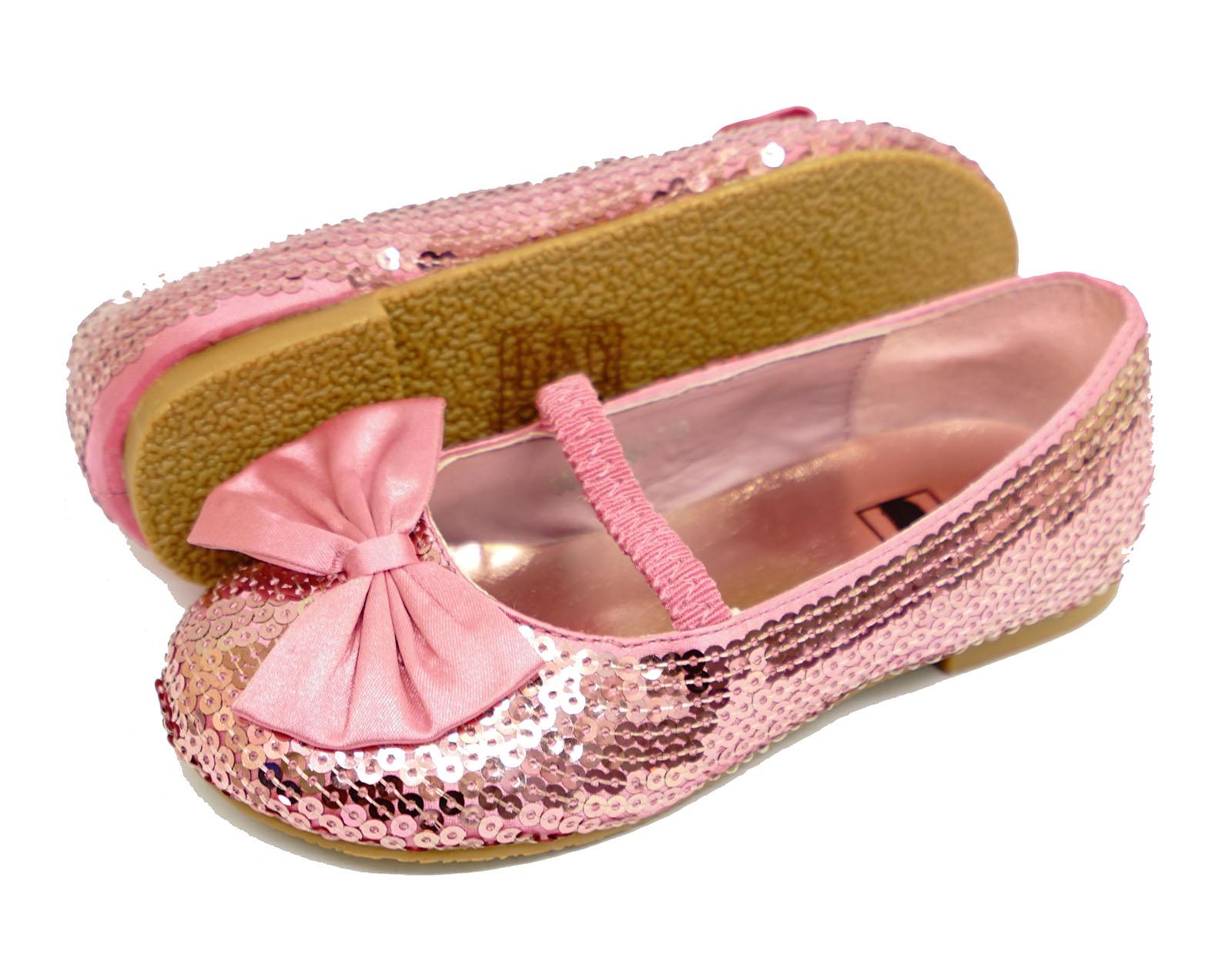 infantil rosa lentejuelas bailarina Manoletinas Dolly Ballet Zapato plano GB
