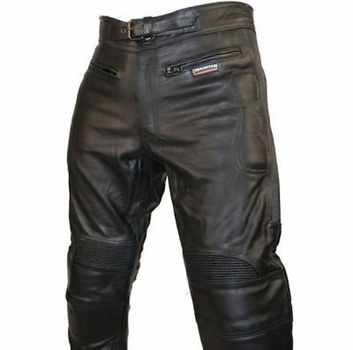hommes ce renforc motard cuir noir pantalons moto jeans. Black Bedroom Furniture Sets. Home Design Ideas