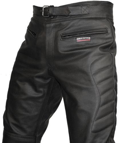 Hommes-CE-Renforce-Motard-Cuir-Noir-Pantalons-Moto-Jeans-Pantalon