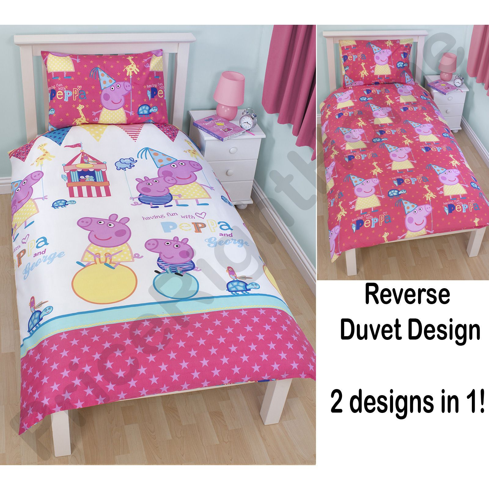 Peppa Pig Amp George Pig Duvet Quilt Covers Toddler Single Amp Double Sizes Ebay