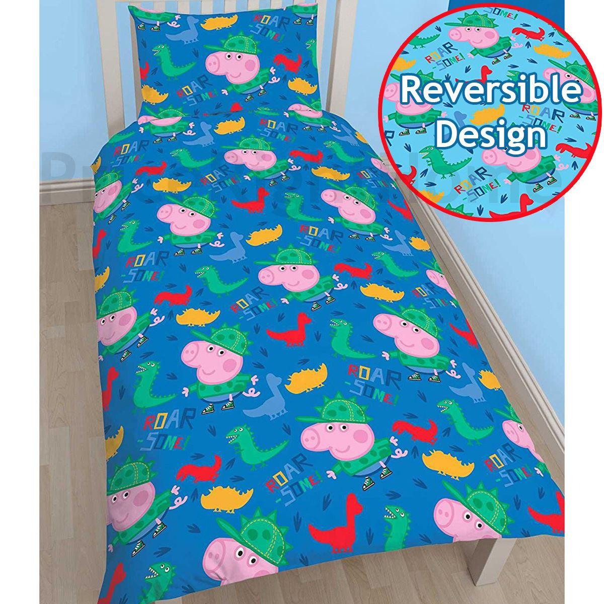 peppa pig george stepp bettdecke berz ge kleinkind einzel doppel gr en ebay. Black Bedroom Furniture Sets. Home Design Ideas