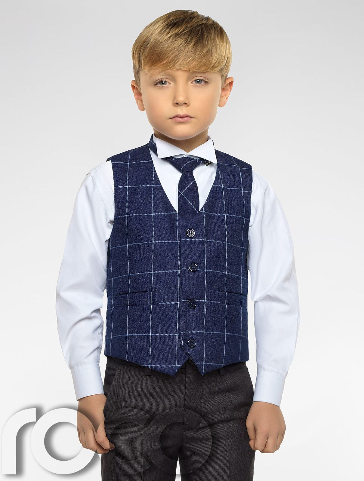 Boys Grey Suit, Boys Check Waistcoat, Page Boy Suits, Boys Wedding ...