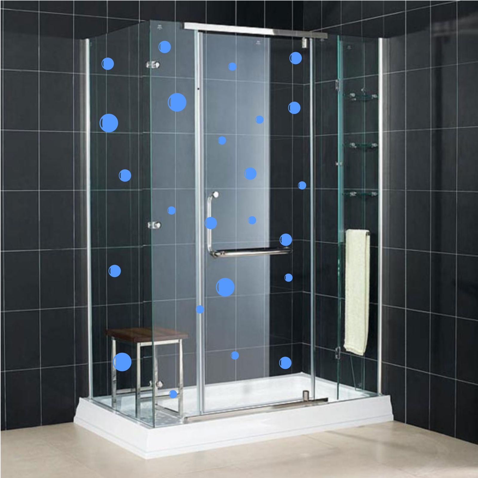 24 BUBBLE WALL STICKERS SAFTEY GLASS MANIFESTATION TILE
