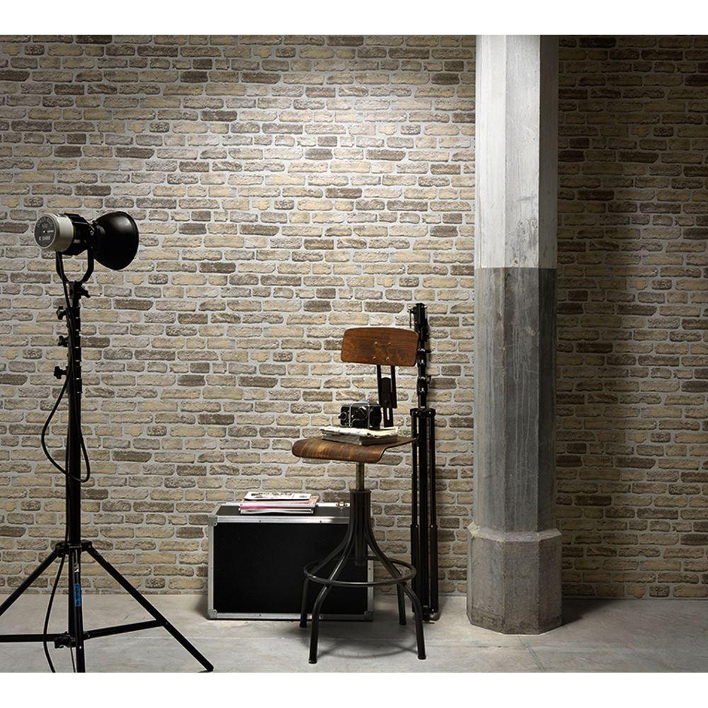 Erismann mattoni casa carta da parati sintetico effetto for Carta da parati effetto muro mattoni