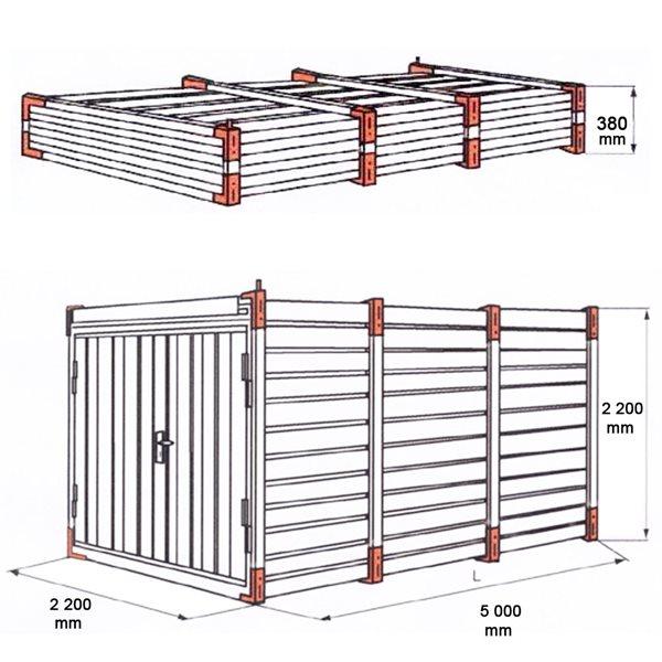 Conteneur de construction garage d 39 entreposage container for Conteneur construction