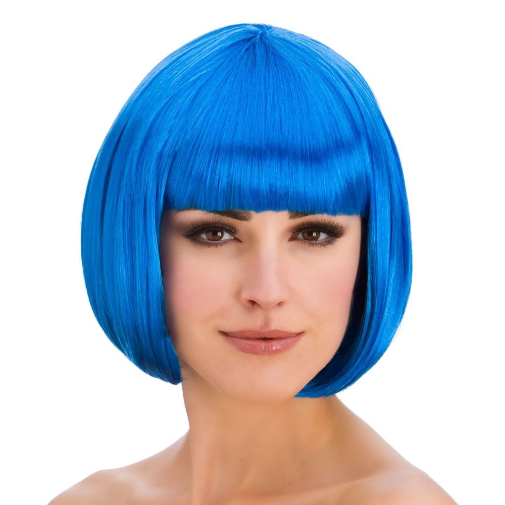 mujer-diva-Corto-Pelo-Bob-Peluca-Flequillos-Disfraz-Hollywood-Anos-80-1980s