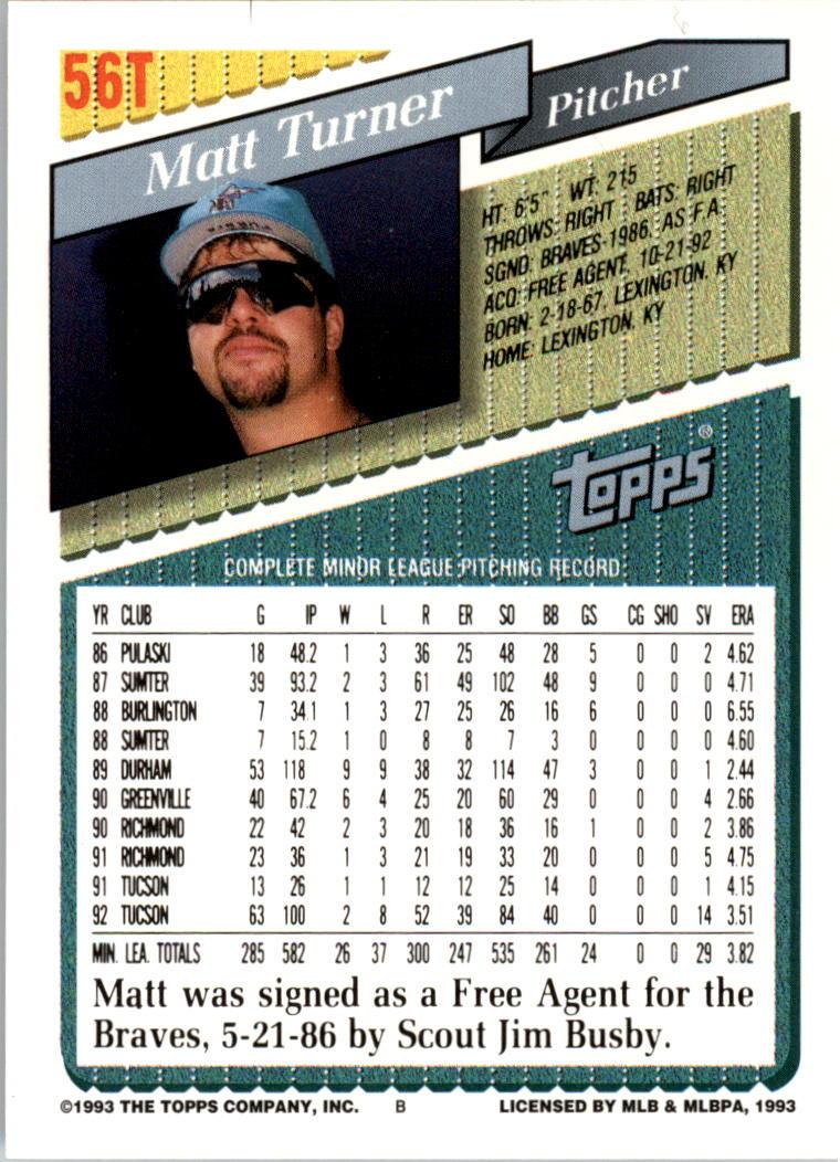 1993-Topps-Achete-Baseball-Carte-Choisissez miniature 93