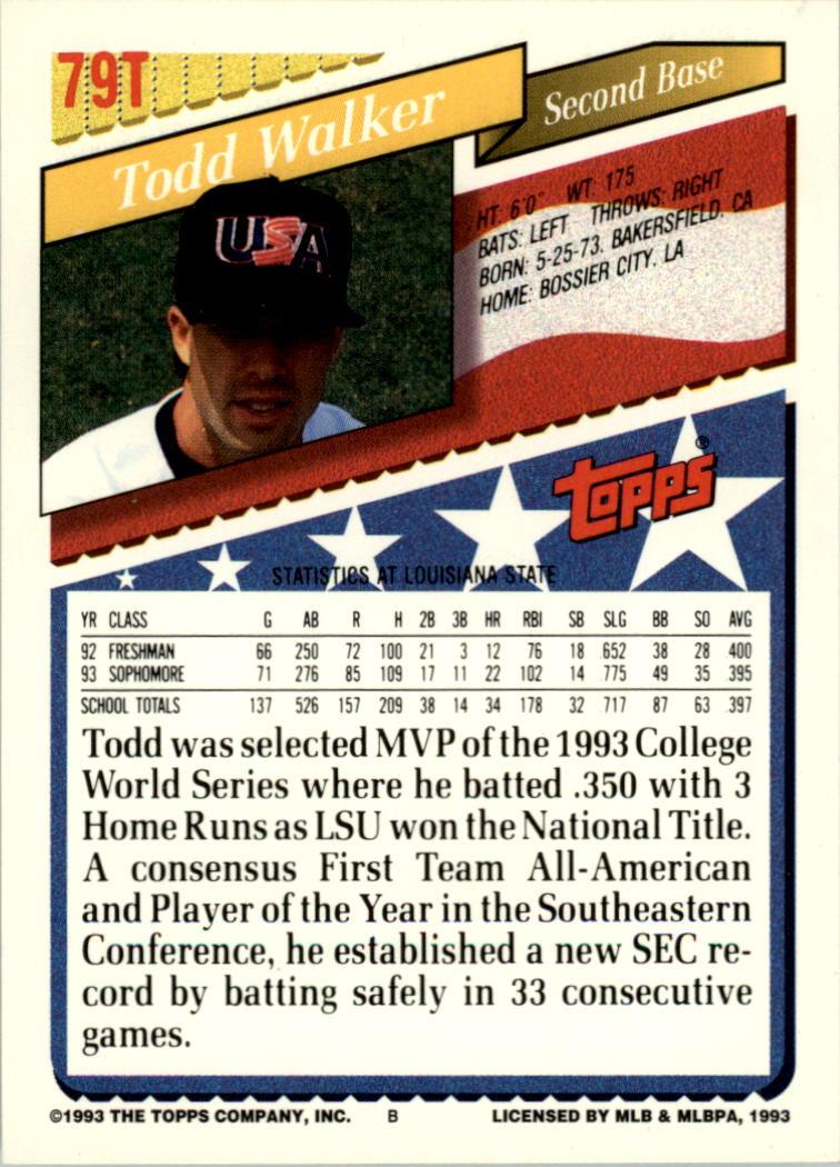 1993-Topps-Achete-Baseball-Carte-Choisissez miniature 139