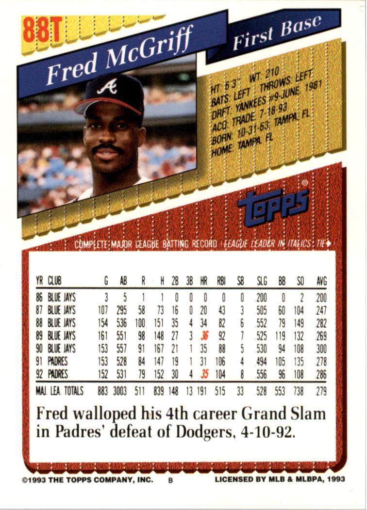 1993-Topps-Achete-Baseball-Carte-Choisissez miniature 153