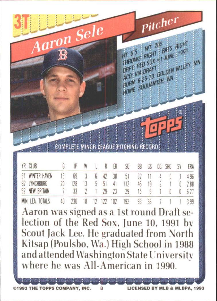 1993-Topps-Achete-Baseball-Carte-Choisissez miniature 5