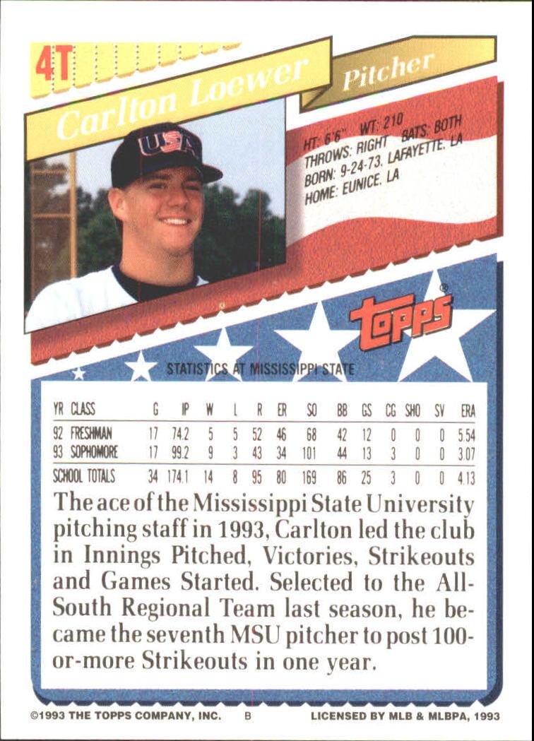1993-Topps-Achete-Baseball-Carte-Choisissez miniature 7