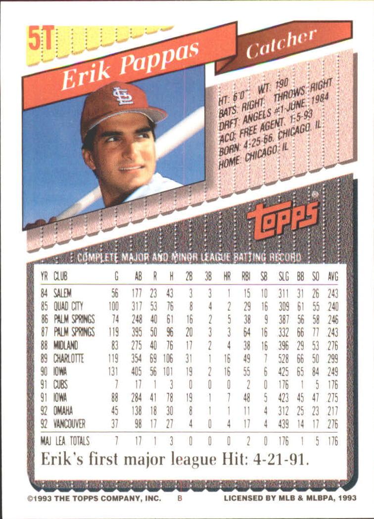 1993-Topps-Achete-Baseball-Carte-Choisissez miniature 9