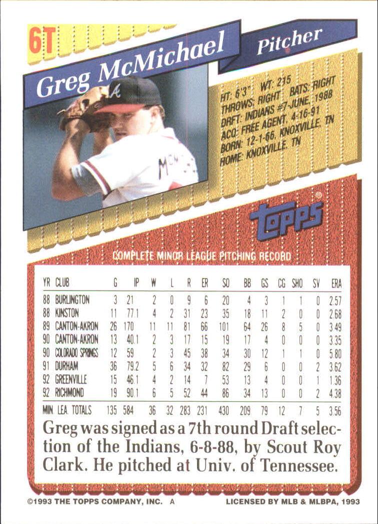 1993-Topps-Achete-Baseball-Carte-Choisissez miniature 11
