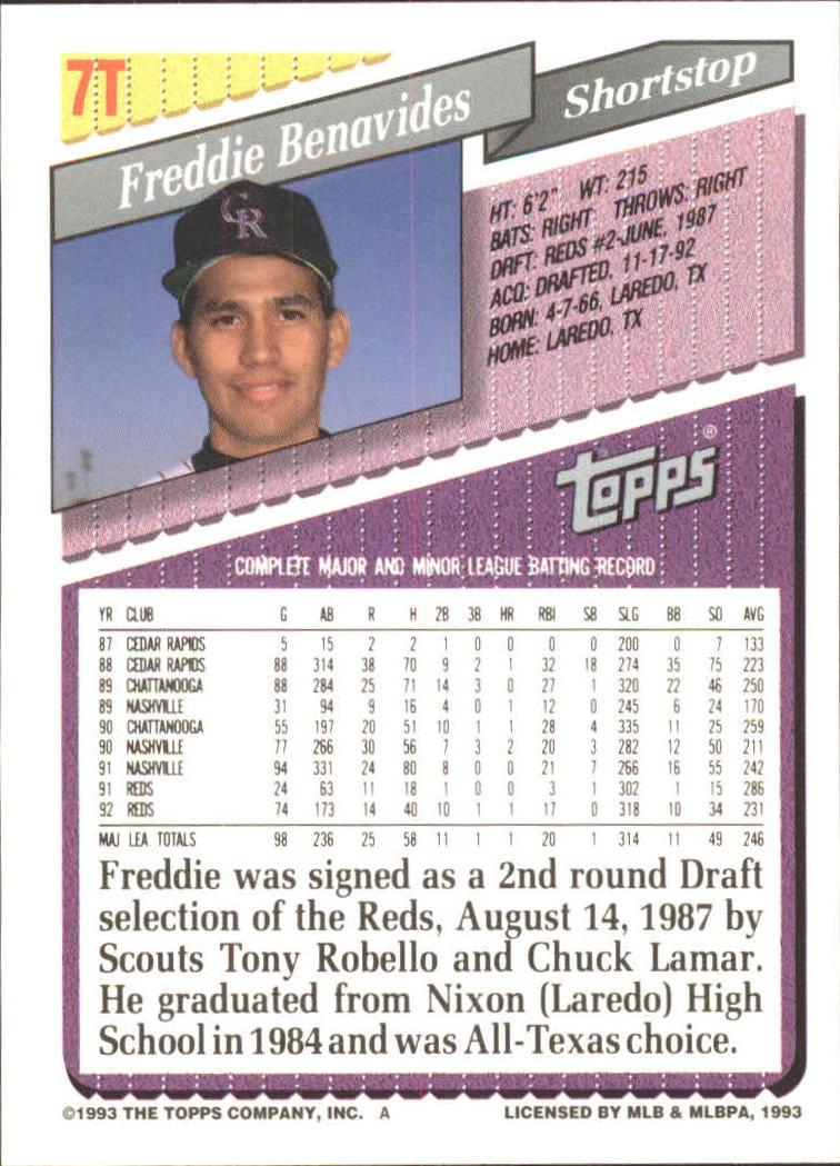 1993-Topps-Achete-Baseball-Carte-Choisissez miniature 13
