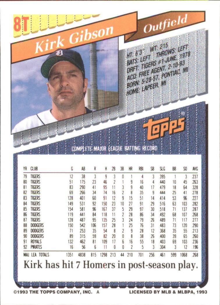 1993-Topps-Achete-Baseball-Carte-Choisissez miniature 15