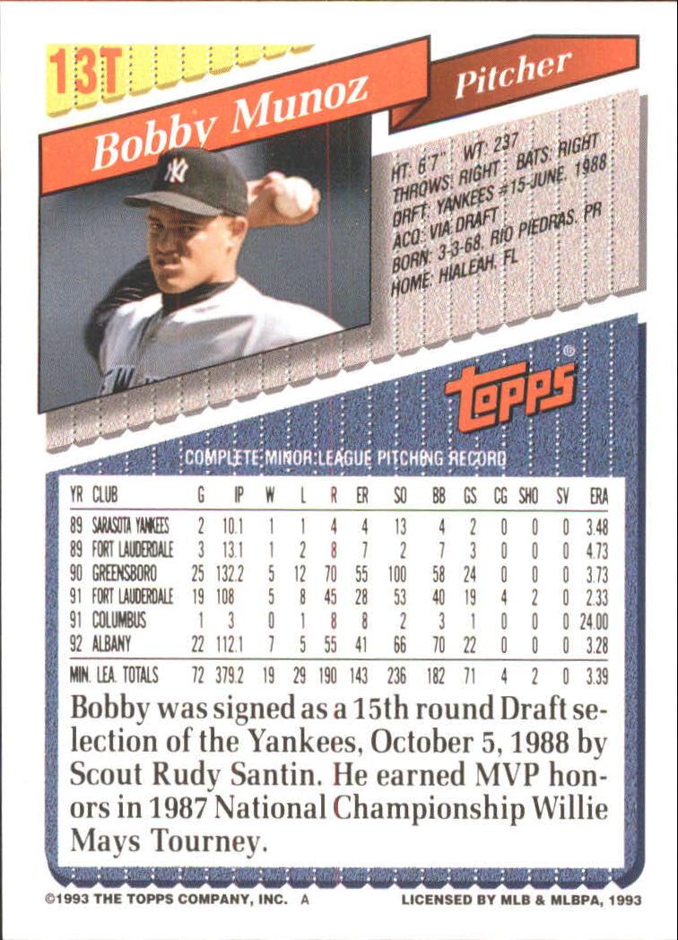 1993-Topps-Achete-Baseball-Carte-Choisissez miniature 23