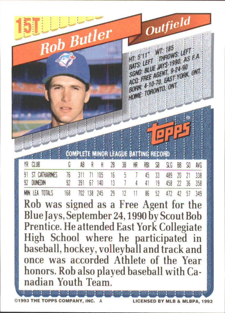 1993-Topps-Achete-Baseball-Carte-Choisissez miniature 27