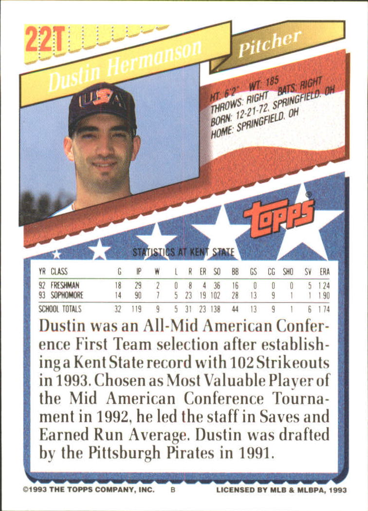 1993-Topps-Achete-Baseball-Carte-Choisissez miniature 37