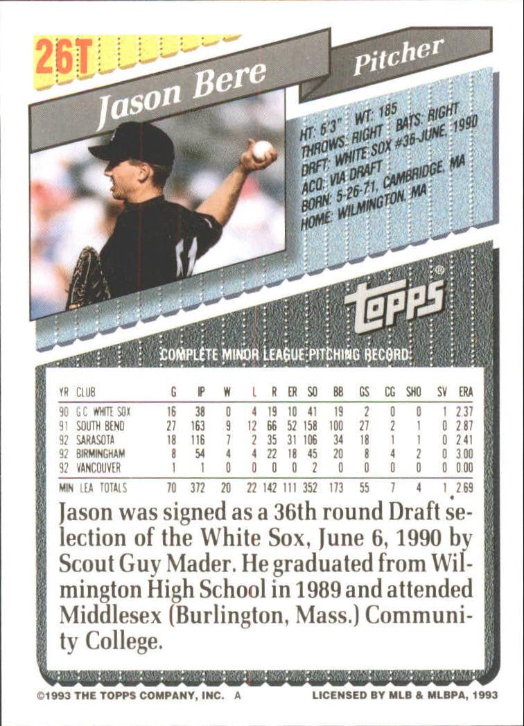 1993-Topps-Achete-Baseball-Carte-Choisissez miniature 43