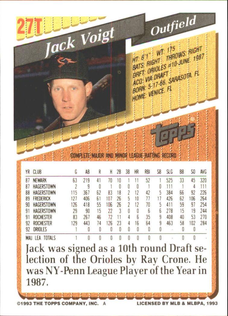 1993-Topps-Achete-Baseball-Carte-Choisissez miniature 45