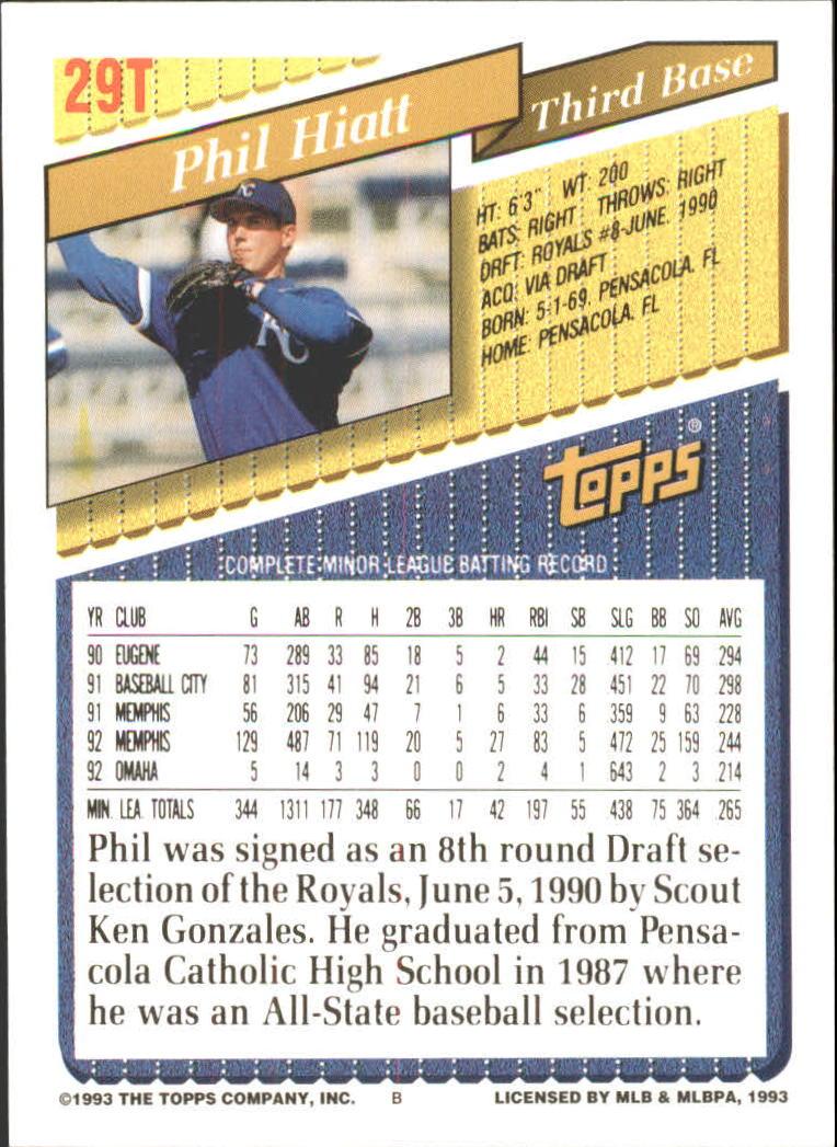 1993-Topps-Achete-Baseball-Carte-Choisissez miniature 49
