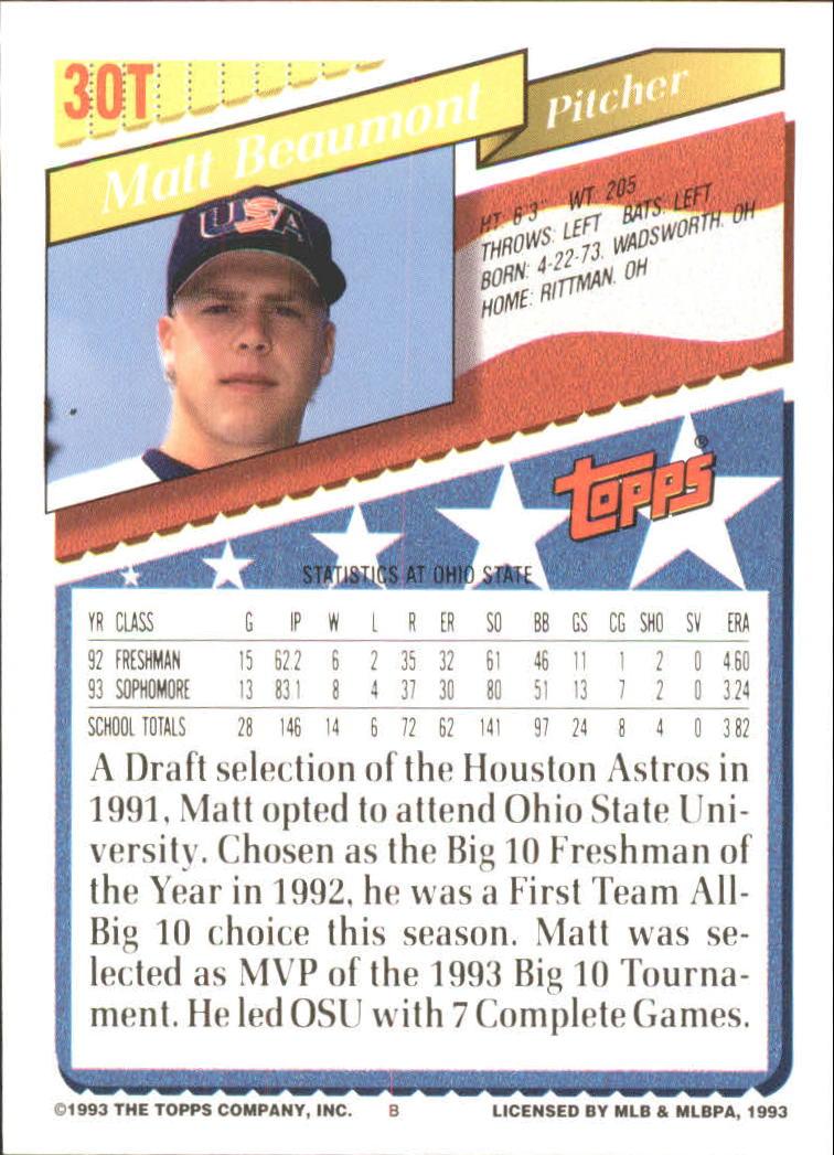 1993-Topps-Achete-Baseball-Carte-Choisissez miniature 51