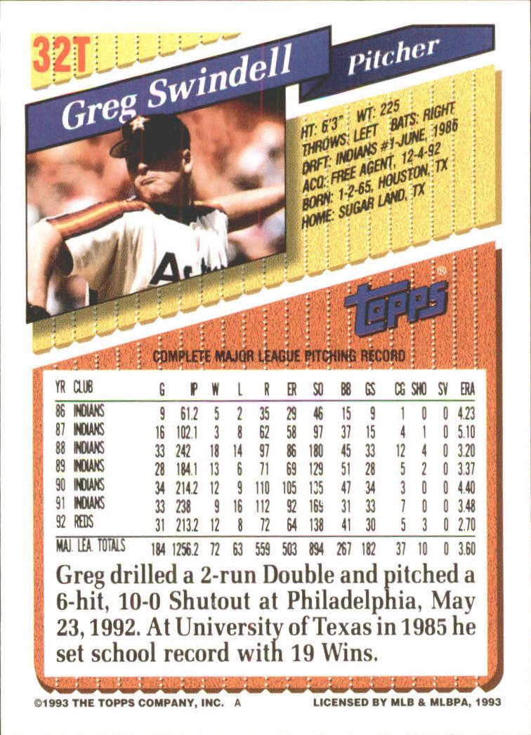 1993-Topps-Achete-Baseball-Carte-Choisissez miniature 53