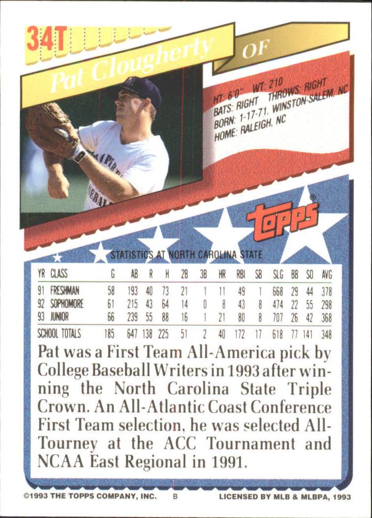 1993-Topps-Achete-Baseball-Carte-Choisissez miniature 57