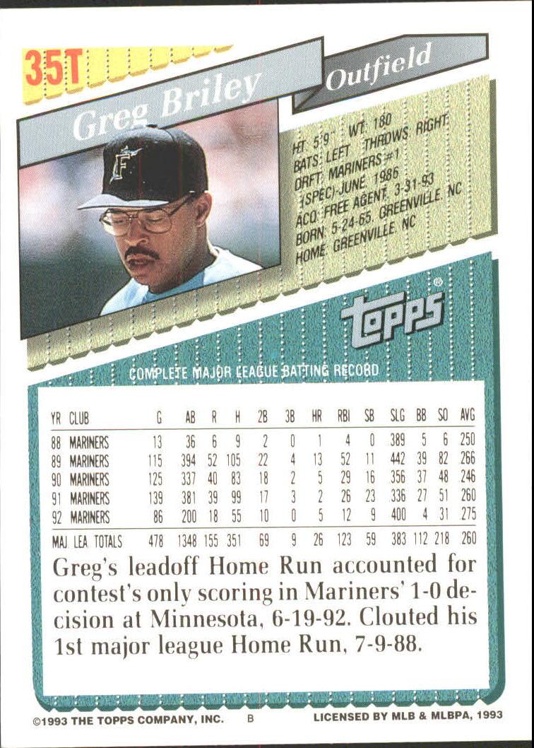 1993-Topps-Achete-Baseball-Carte-Choisissez miniature 59