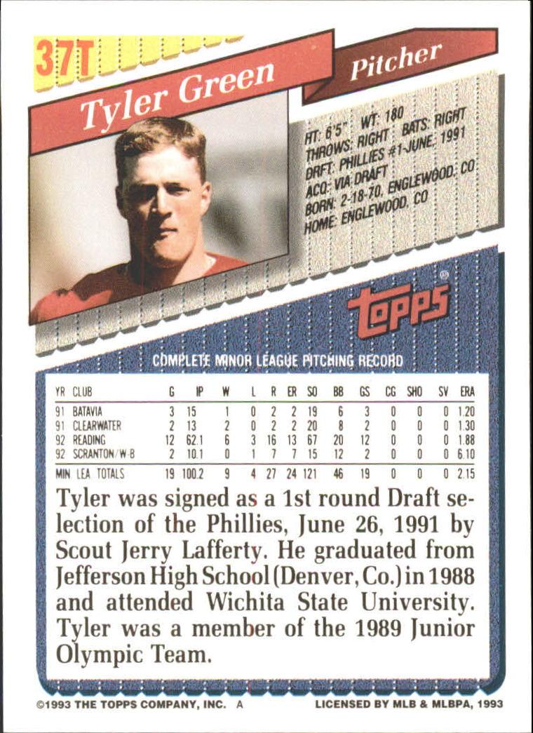 1993-Topps-Achete-Baseball-Carte-Choisissez miniature 61