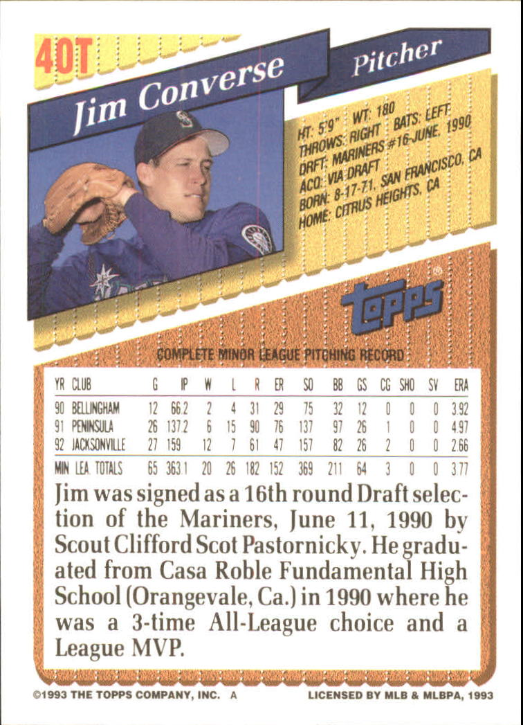 1993-Topps-Achete-Baseball-Carte-Choisissez miniature 67