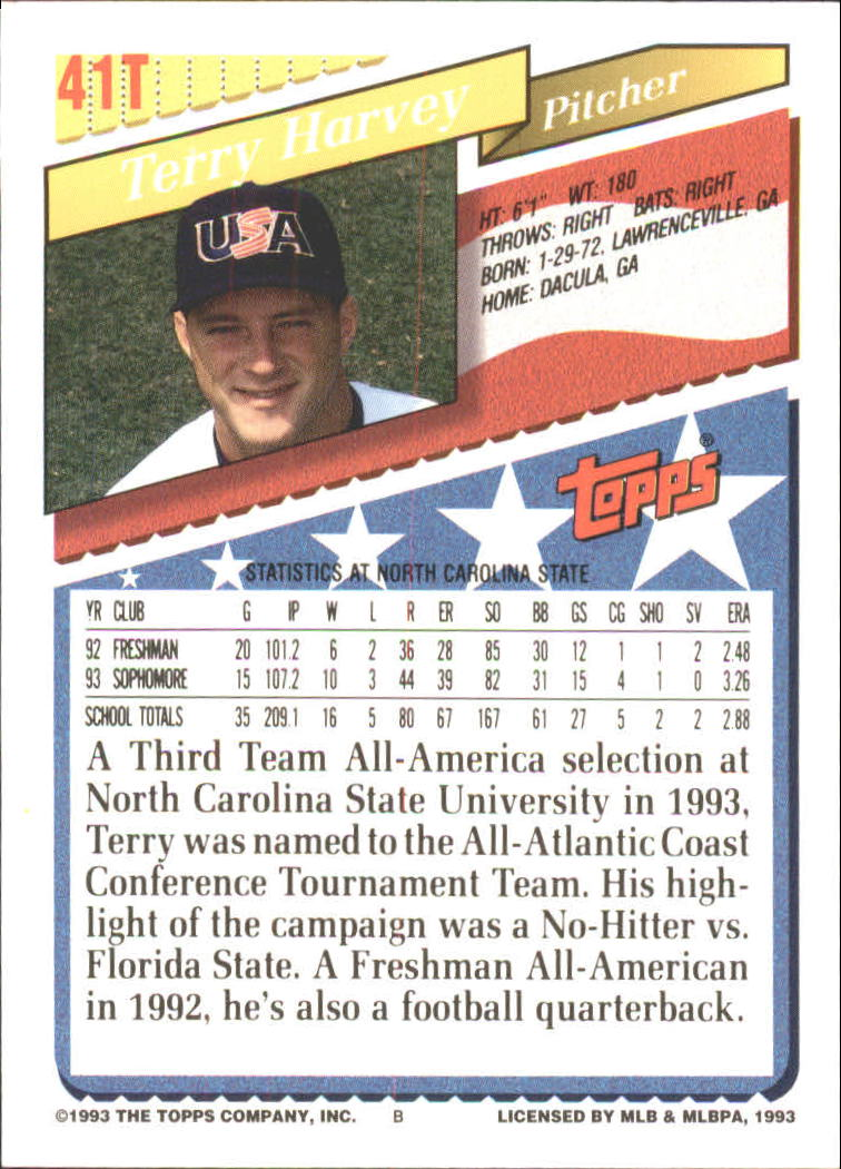 1993-Topps-Achete-Baseball-Carte-Choisissez miniature 69