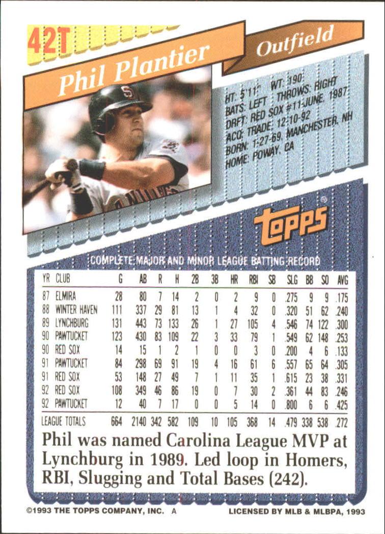 1993-Topps-Achete-Baseball-Carte-Choisissez miniature 71
