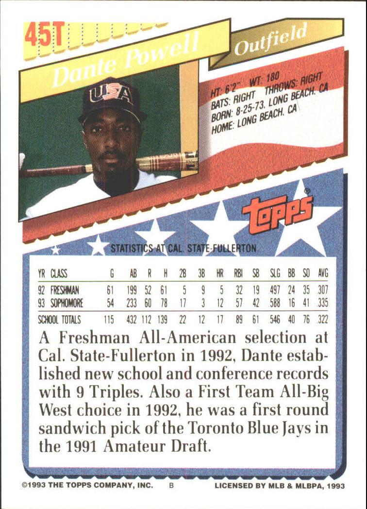 1993-Topps-Achete-Baseball-Carte-Choisissez miniature 77