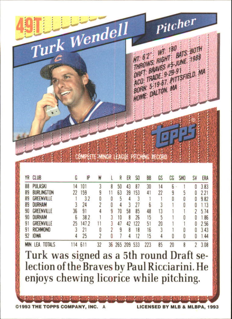 1993-Topps-Achete-Baseball-Carte-Choisissez miniature 81