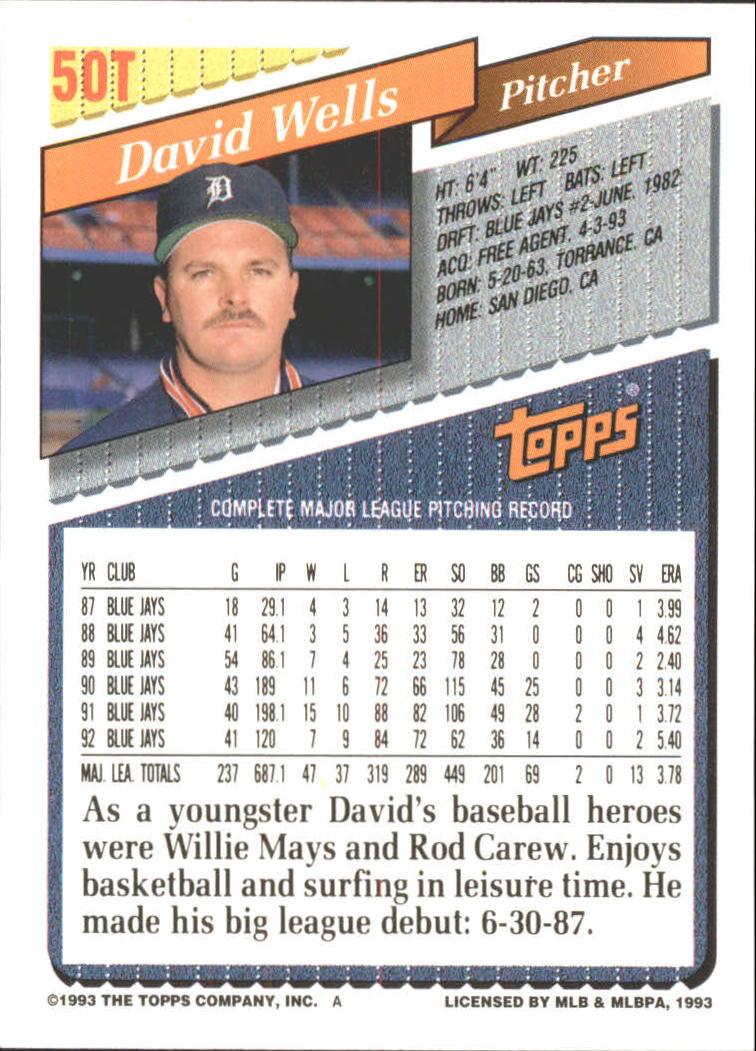 1993-Topps-Achete-Baseball-Carte-Choisissez miniature 83