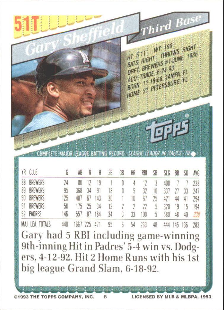 1993-Topps-Achete-Baseball-Carte-Choisissez miniature 85