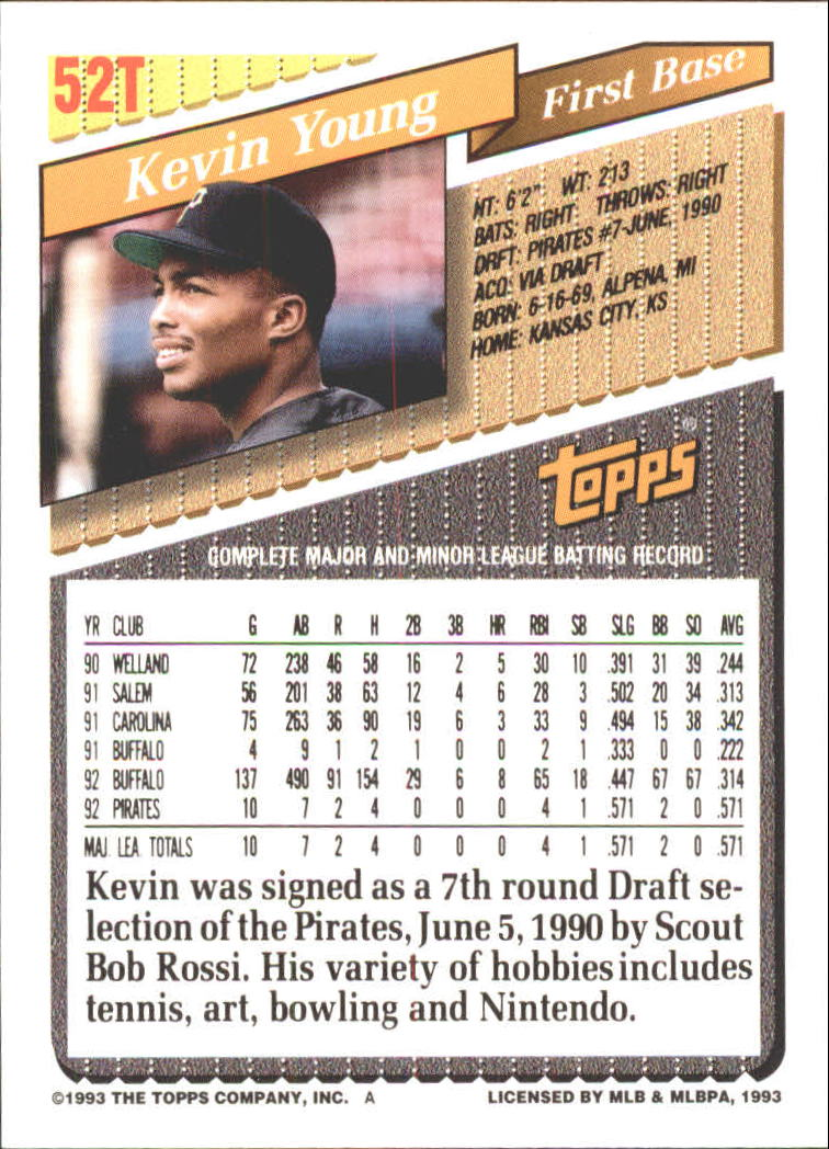 1993-Topps-Achete-Baseball-Carte-Choisissez miniature 87