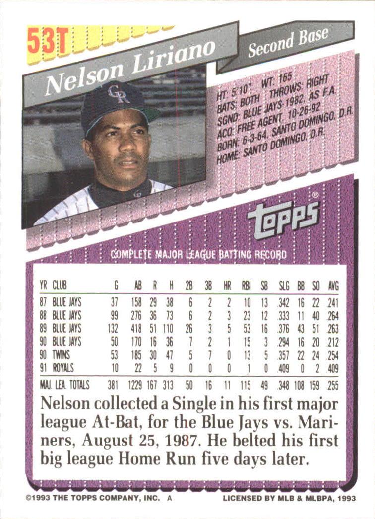 1993-Topps-Achete-Baseball-Carte-Choisissez miniature 89