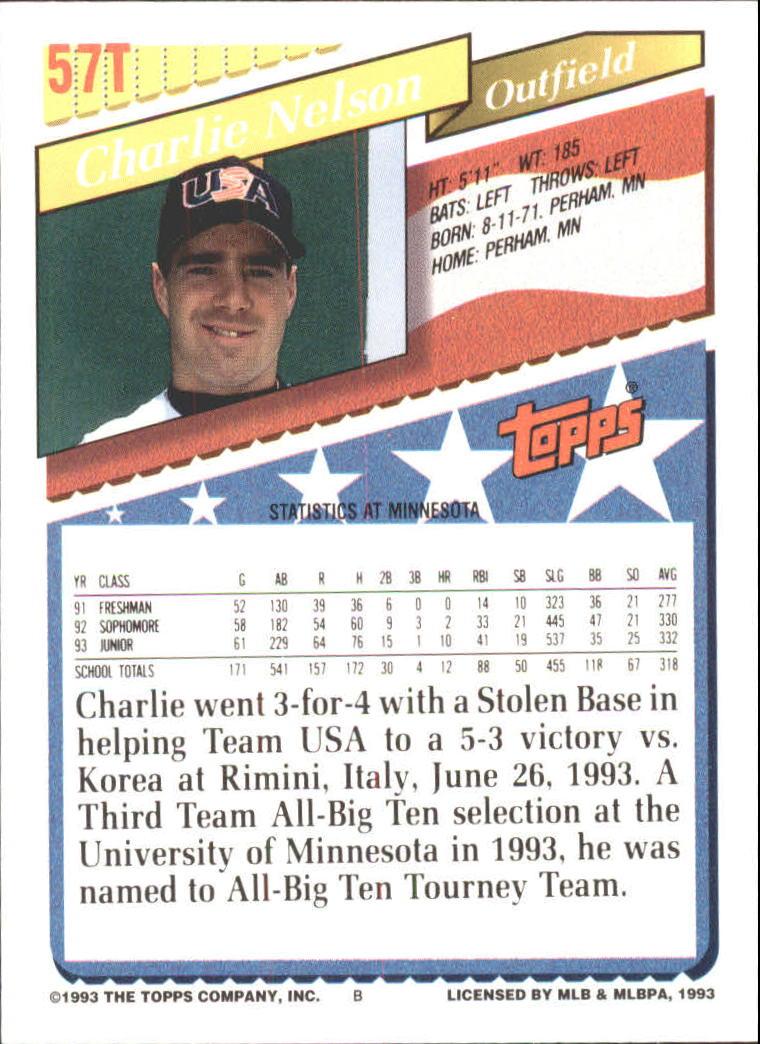 1993-Topps-Achete-Baseball-Carte-Choisissez miniature 95