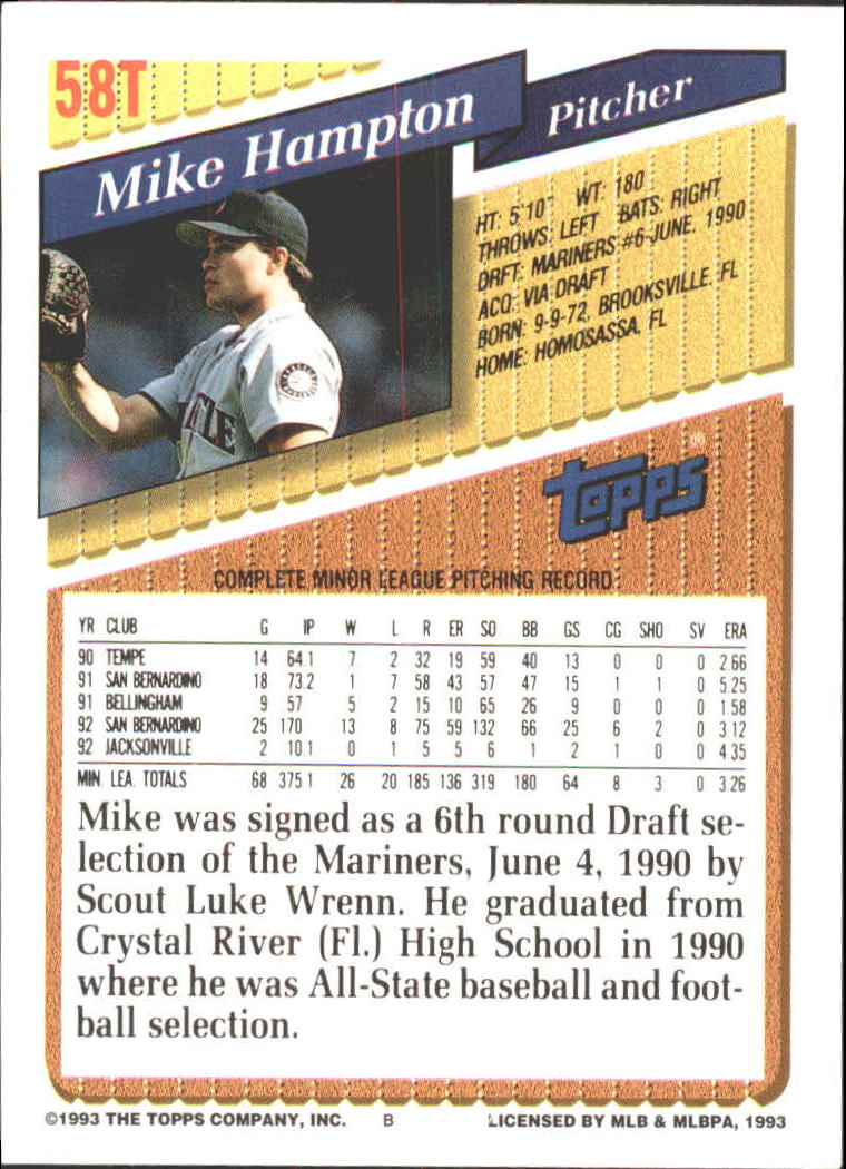 1993-Topps-Achete-Baseball-Carte-Choisissez miniature 97