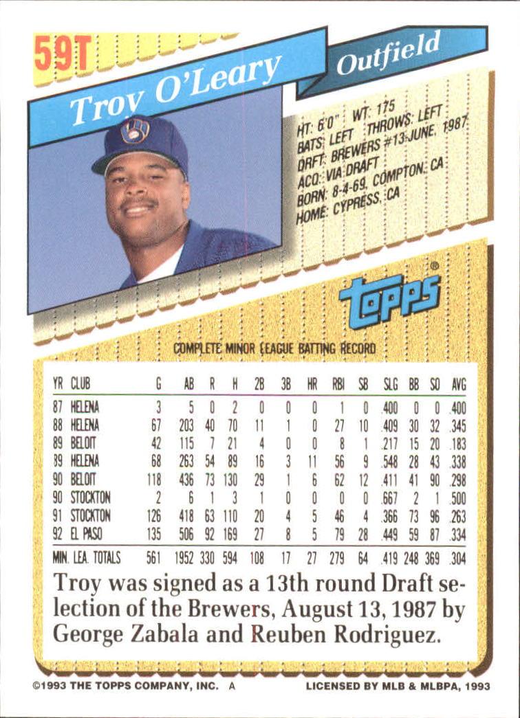 1993-Topps-Achete-Baseball-Carte-Choisissez miniature 99