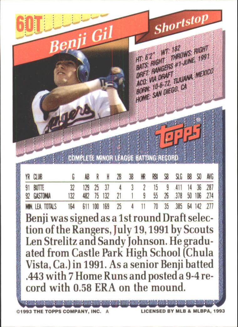 1993-Topps-Achete-Baseball-Carte-Choisissez miniature 101