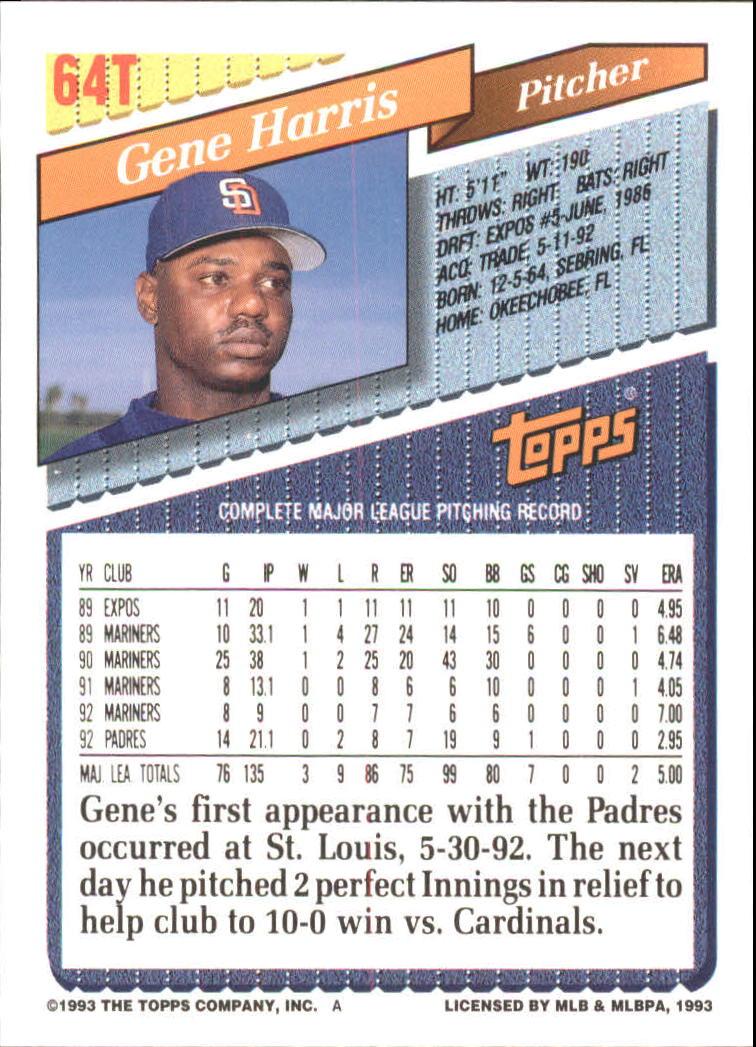 1993-Topps-Achete-Baseball-Carte-Choisissez miniature 109