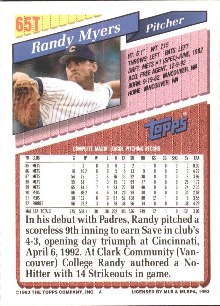 1993-Topps-Achete-Baseball-Carte-Choisissez miniature 111