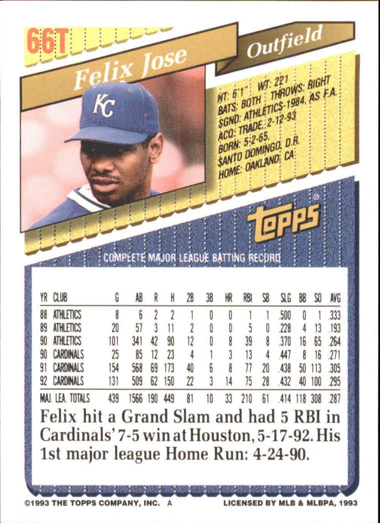 1993-Topps-Achete-Baseball-Carte-Choisissez miniature 113