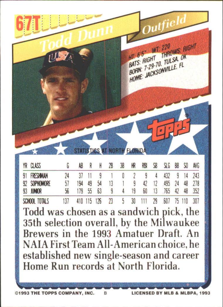 1993-Topps-Achete-Baseball-Carte-Choisissez miniature 115