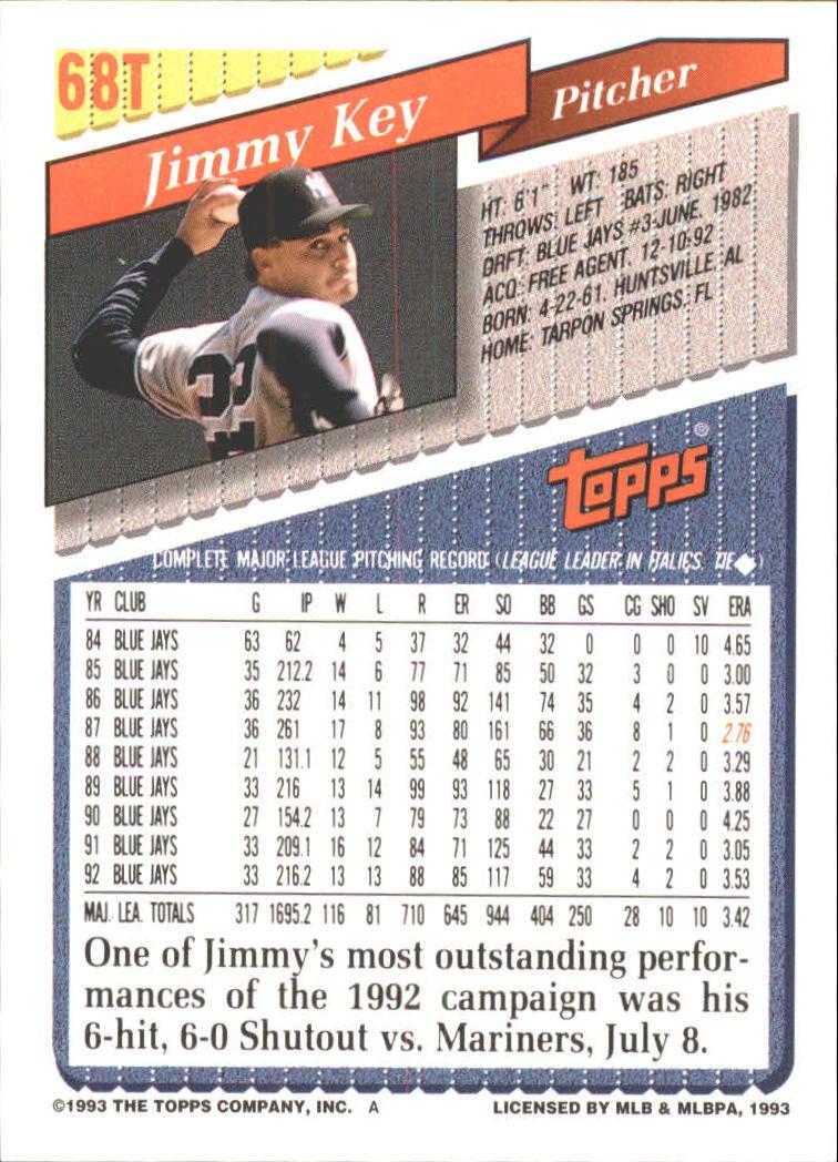 1993-Topps-Achete-Baseball-Carte-Choisissez miniature 117