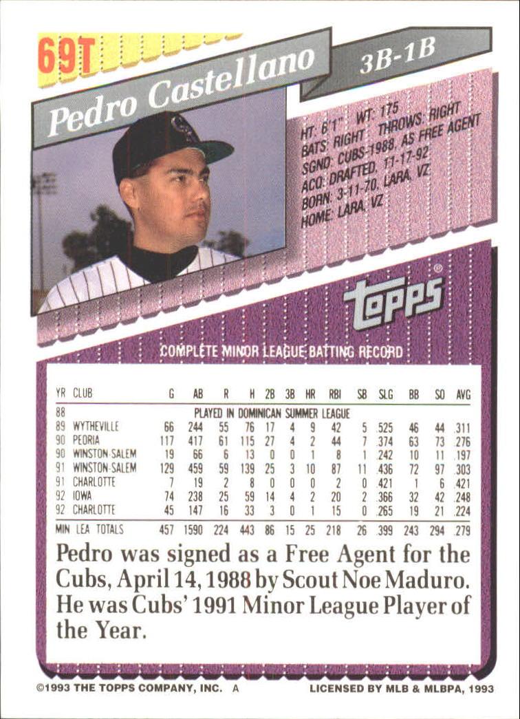 1993-Topps-Achete-Baseball-Carte-Choisissez miniature 119